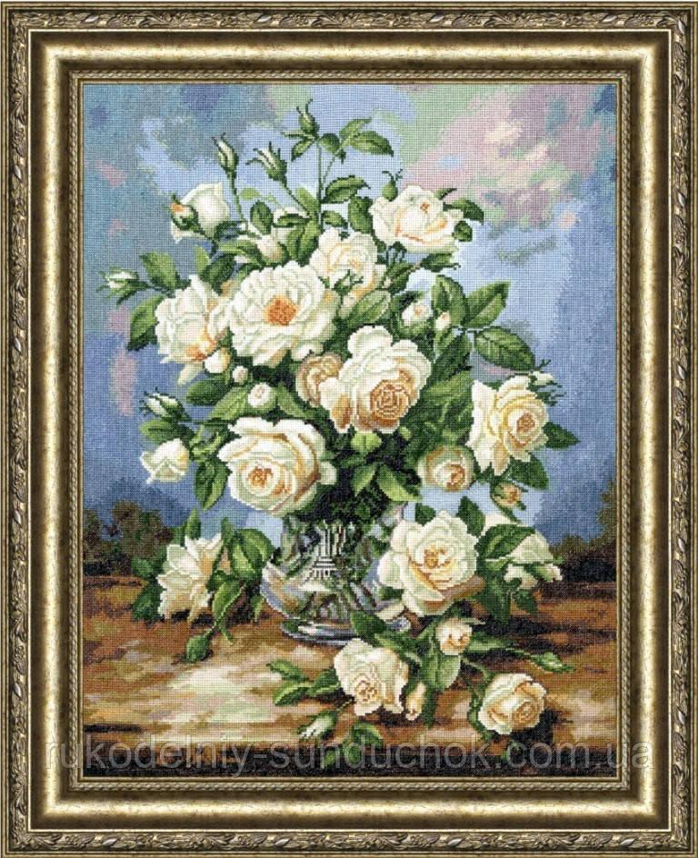 """Набор для вышивания крестом ТМ Золотое Руно """"Букет белых роз. Любимые цветы """" ЛЦ-043"""