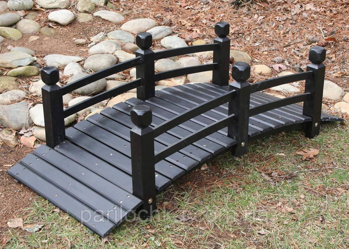 Деревянный декоративный мостик для сада