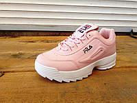 Женские розовые кроссовки FILA 36-41 р-р 40