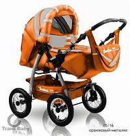 Коляска-трансформер Trans Baby Taurus оранжевый+металлик