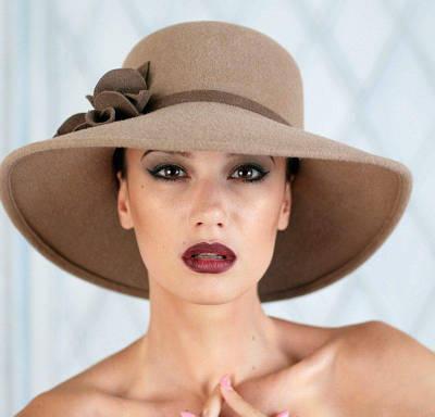 313-1 Женская фетровая шляпа Хелен Лайн