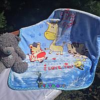 Плед детский мягкий двухсторонний (микрофибра утепленная) 100х100 см, Цвет 4, фото 1