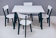 Деревяний стіл Мілан зі стільцями Гелена, фото 1