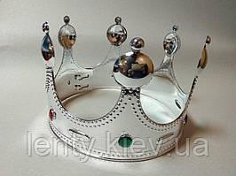 Корона для короля, королеви пластикова Срібло