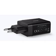Cетевая зарядка Anker PowerPort2 24W/4.8A + Micro USB Cable V3 Black, фото 2