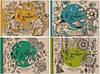Альбом для зарисовок, Скетчбук Крафт обложка  197х145мм 36листов 100г/м2 Мандарин уп4