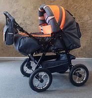 Коляска-трансформер Trans Baby Taurus т.серый+оранжевый