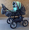 Коляска-трансформер Trans Baby Taurus т.серый+бирюза