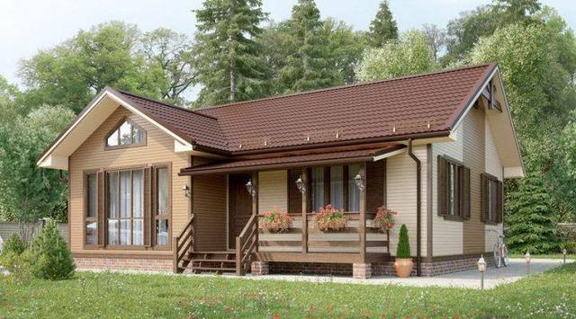 Дом деревянный из профилированного бруса 11х9 м