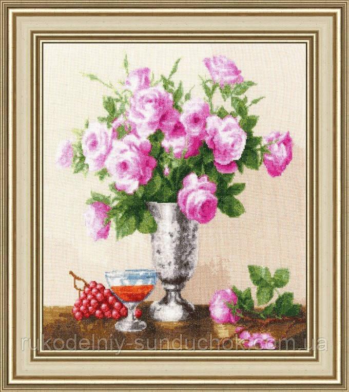 """Набор для вышивания крестом ТМ Золотое Руно """"Королевские розы. Любимые цветы """" ЛЦ-060"""