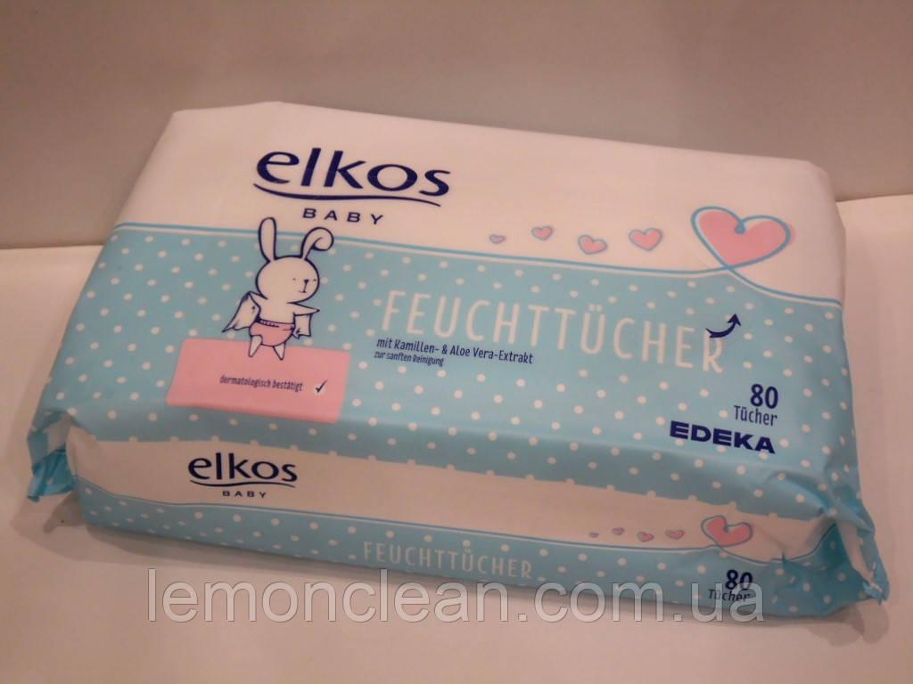 Детские влажные салфетки Elkos Baby Feuchttücher Comfort с ромашк