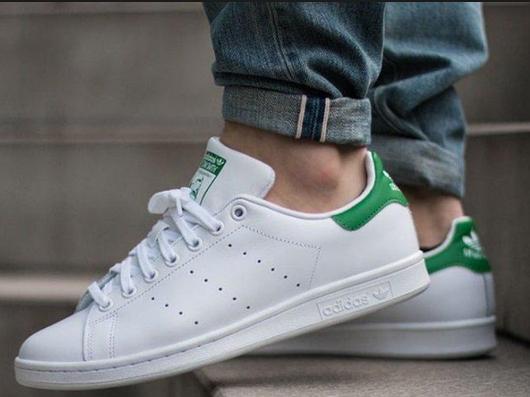 Кроссовки Женские Adidas Stan Smith White/Green, адидас стен смитт, реплика