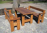 Садовые скамейки и столы из бруса
