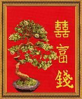 """Набор для вышивания крестом ТМ Золотое Руно """"Денежное дерево. Магия востока """" МГ-009"""