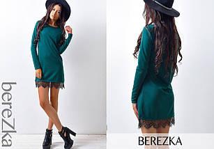 Прямое платье с кружевом, фото 2
