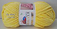 Велюровая (плюшевая) пряжа DOLPHIN BABY № 80313 - Желтый