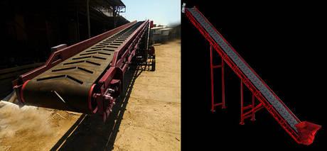 Желобчатые ленточные конвейера шириной 400 мм.