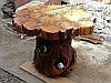 Деревянные столы из коряг