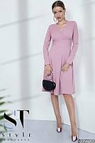 Стильное теплое платье в рубчик размеры S-ХL, фото 2
