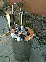 """Дистиллятор бытовой на 24 литра с термометром. Нержавейка, сухопарник, охладитель, широкая горловина """"Премиум"""""""