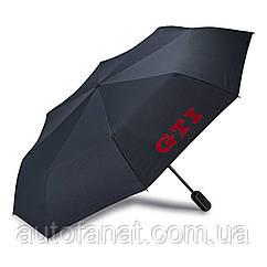 Оригинальный складной зонт Volkswagen GTI Umbrella Black (5GB087602)