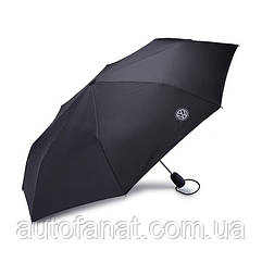 Оригинальный складной зонт Volkswagen Logo Compact Umbrella, Black (000087602K)