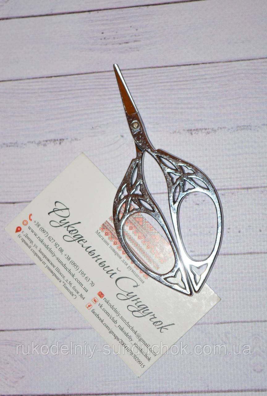 """Ножницы для рукоделия """"Готика"""" 10,8 см (цвет: серебро)"""