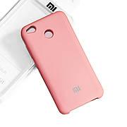 Силиконовый чехол на Xiaomi redmi 4x Soft-touch Pink