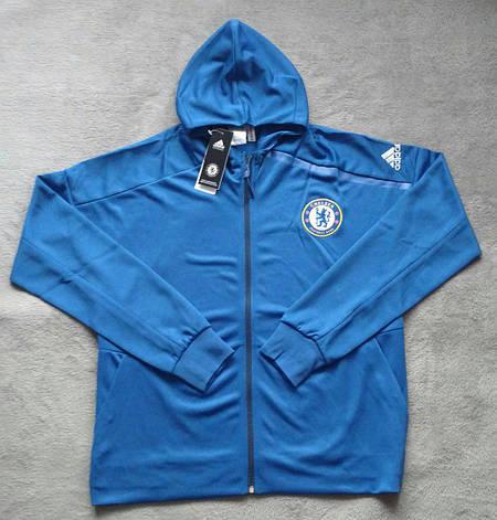 69a51527f04b Мужская спортивная олимпийка (кофта) Челси-Адидас, Chelsea, Adidas с  капюшоном, синяя