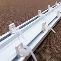 Карниз потолочный Euro-профиль алюминиевый 2-рядный белый (650108)