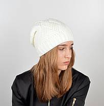 """Вязаная женская шапка """"Nora"""", фото 2"""