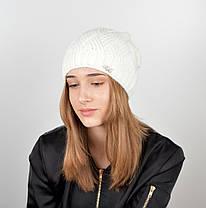 """Вязаная женская шапка """"Nora"""", фото 3"""