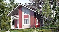 Дом из профилированного бруса 7х7 м