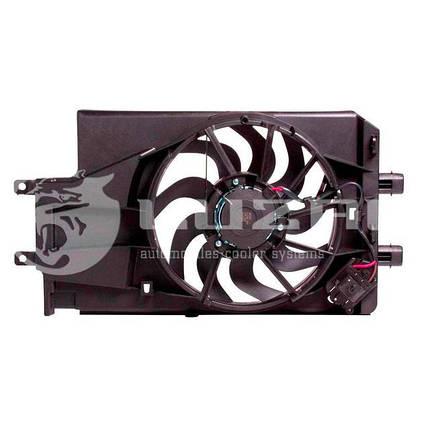 Вентилятор охлаждения радиатора ВАЗ-2190 (с кожухом)(15-) (тип KDAC) (LFK 0194) Luzar, фото 2