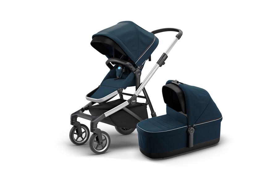 THULE - Детская коляска 2 в 1 Sleek + Bassinet Navy Blue