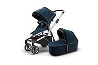 THULE - Детская коляска 2 в 1 Sleek + Bassinet Navy Blue, фото 1