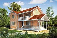 Дом двухэтажный из профилированного бруса 8х10 м