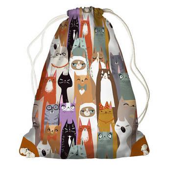 Рюкзак мешок на шнурке Котики