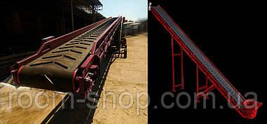 Желобчатые ленточные транспортеры (конвейера) шириной 400 мм. длина 5 м.
