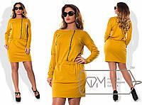 Стильное женское платье  батал с 50 по 58 размер