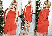 Красивое женское платье свободного кроя батал с 48 по 58 размер