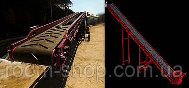 Желобчатые ленточные конвейера (транспортеры) шириной 400 мм. длина 9 м.