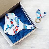 """Подарочный набор для новорожденного, на крещение, подарок на год """"Пилот mini"""", фото 1"""