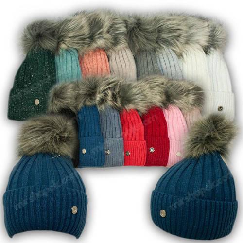 Вязанная шапка для девочки, р. 52-54