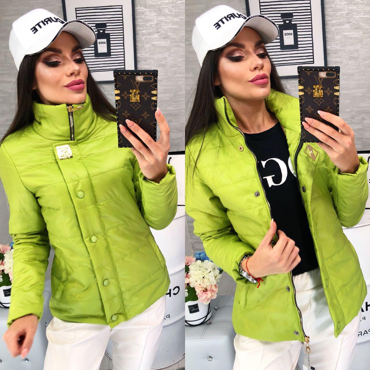 36110a90a8e Женская Демисезонная Куртка (арт 211 2) Цвет Зеленое Яблоко — в ...