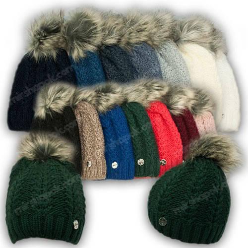 Вязанная шапка с бусинками для девочки, р. 52-54