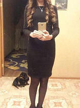 Платье трикотажное зимнее на меху прямого кроя СУПЕР КАЧЕСТВО! НОВЫЙ цвет, фото 2