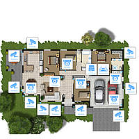Видеонаблюдение AHD 2Мп 16 камер для частного дома