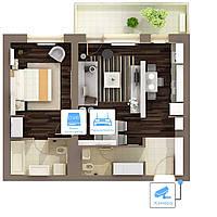 Видеонаблюдение AHD 1Мп 1 камера для квартиры