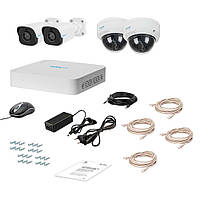 Комплект IP видеонаблюдения Tecsar Lead IP 4MIX-2MP